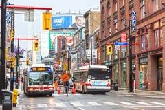 Uliczny śródmieście w Toronto, Kanada Obrazy Royalty Free
