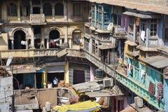 Uliczny życie w Starym Delhi, India fotografia stock