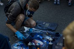 Uliczny artysta obraz royalty free