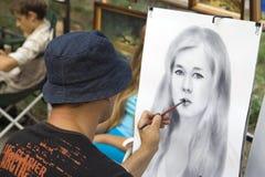 Uliczny artysta Obrazy Stock