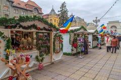 Uliczny Bożenarodzeniowy jarmark z tradycyjnymi produktami obraz royalty free