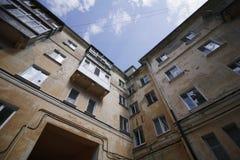 Uliczny budynek w Ulyanovsk mieście, Rosja Fotografia Stock