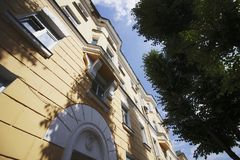 Uliczny budynek w Ulyanovsk mieście, Rosja Obraz Stock