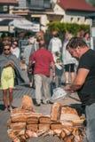 Uliczny chlebowy sprzedawca Obraz Stock