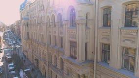 Uliczny fasada domu widoku z lotu ptaka klasyk zbiory wideo