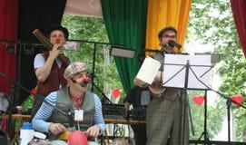 Uliczny festiwal, błazeny/muzyka Zdjęcie Stock