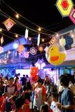 Uliczny festiwal przy nocą Zdjęcie Stock