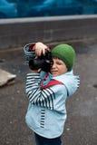 Uliczny fotograf Fotografia Stock