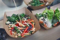 Uliczny jedzenie, catering, restauracyjna dostawa, rynek Fotografia Stock