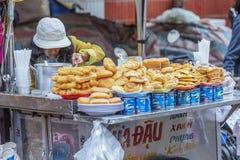 Uliczny jedzenie, Da Lat rynek, Wietnam Zdjęcie Stock