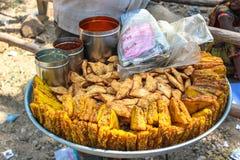Uliczny jedzenie: India Obraz Royalty Free