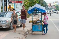 Uliczny jedzenie, Kambodża Zdjęcia Royalty Free