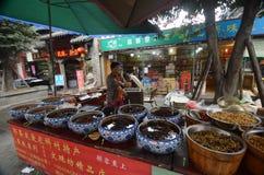 Uliczny jedzenie w Chiny Zdjęcia Royalty Free