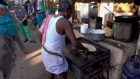 Uliczny jedzenie w India zdjęcie wideo