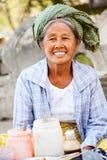 Uliczny jedzenie w Mingun, Myanmar Zdjęcie Stock