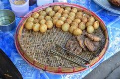 Uliczny jedzenie w Myanmar Obraz Stock
