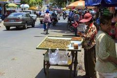 Uliczny jedzenie w Phnom Phen Obrazy Stock