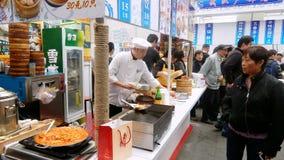 Uliczny karmowego handlu Yuyuan park, Szanghaj miasto, Chiny Obrazy Royalty Free