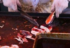Uliczny karmowy calamari przygotowanie Zdjęcie Stock
