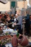 Uliczny Karmowy festiwal w Kyiv, Ukraina Fotografia Stock