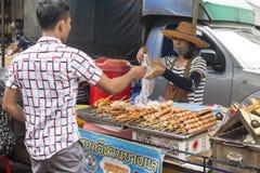 Uliczny karmowy sprzedawca, Bangkok Zdjęcia Royalty Free