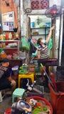 Uliczny karmowy sprzedawca, Hanoi, Wietnam Obraz Royalty Free