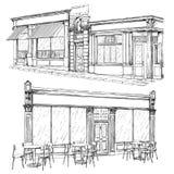 Uliczny kawiarnia set Zdjęcie Royalty Free