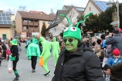 Uliczny korowód przy Niemieckim karnawałowym Fastnacht Fotografia Stock