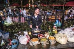 Uliczny kucharstwo, Szanghaj Zdjęcie Stock
