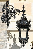Uliczny lampion, Peles kasztel, Sinaia, Rumunia Zdjęcia Royalty Free