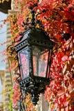 Uliczny lampion, Peles kasztel, Sinaia, Rumunia Zdjęcia Stock