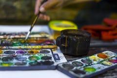 Uliczny malarz Zdjęcie Stock