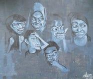 Uliczny malowidło ścienne w ulicznej sztuce w Shah Alam Obraz Stock