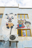 Uliczny malowidło ścienne w ulicznej sztuce w Shah Alam, Malezja Fotografia Stock