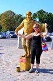 Uliczny mima artysta, przedstawia Mozar Fotografia Royalty Free