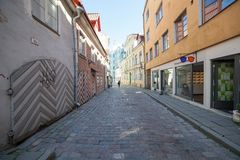 Uliczny Muurivahe w Tallinn Fotografia Royalty Free