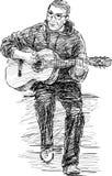 Uliczny muzyk ilustracji