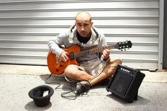Uliczny muzyk Zdjęcie Royalty Free