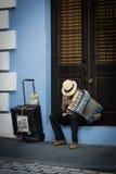 Uliczny muzyk na puerto rico Fotografia Royalty Free