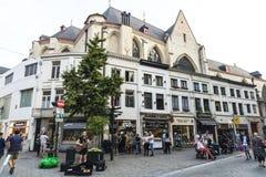 Uliczny muzyk na ulicie w Bruksela, Belgia Obrazy Stock