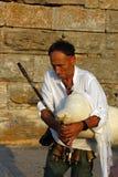 Uliczny muzyk Nesebar zdjęcie royalty free