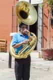 Uliczny muzyk Oaxaca, Meksyk Fotografia Stock