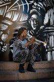 Uliczny muzyk w puerto rico Obraz Royalty Free
