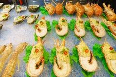 Uliczny owoce morza w Aisa Fotografia Stock