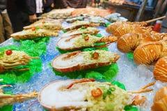 Uliczny owoce morza w Aisa Zdjęcie Stock