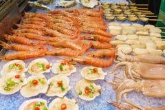 Uliczny owoce morza w Aisa Obraz Stock