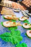 Uliczny owoce morza w Aisa Zdjęcia Royalty Free