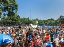 Uliczny parada karnawał - Rio De Janeiro, Brazylia LUTY 9, 2016 Zdjęcia Stock