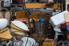 Uliczny pchli targ stare rzeczy i antyki w starym okręgu Tel Aviv Zdjęcia Stock