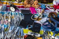 Uliczny pchli targ stare rzeczy i antyki w starym okręgu Tel Aviv Obraz Royalty Free